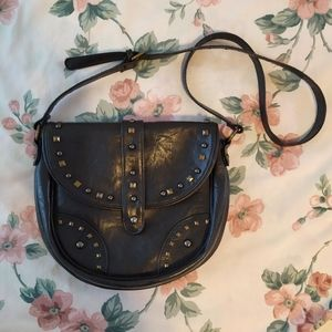 Handbags - Faux Leather Studded Shoulder Purse Bag Vegan